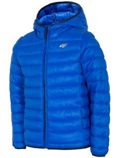 Chlapecká péřová bunda (122-164) JKUMP200 – kobaltová