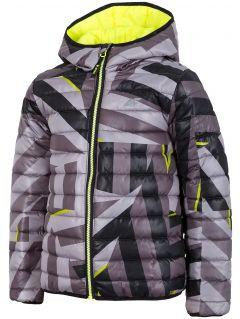 Chlapecká péřová bunda (122-164)  JKUMP202A – multibarevná