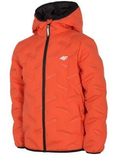 Chlapecká péřová bunda (122-164  JKUMP205 – oranžová