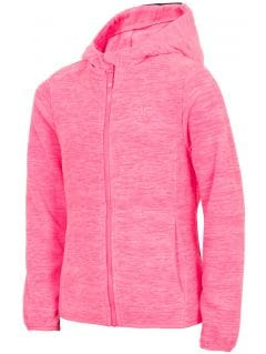 Dívčí fleece (122-164) JPLD203 - neonově růžový