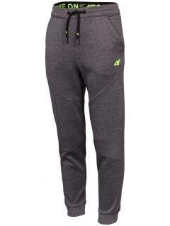 Chlapecké funkční kalhoty (122-128) JSPMTR401 - šedý melír