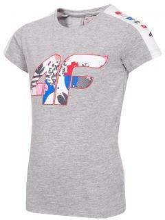 Dívčí tričko (98-116) JTSD103 - šedý melír