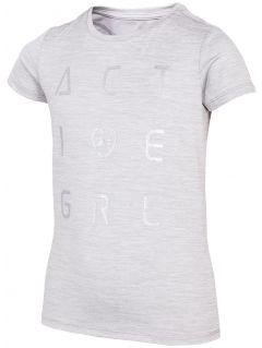 Dívčí sportovní tričko (122 -164) JTSD400 - šedý melír