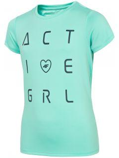Dívčí sportovní tričko (122-164) JTSD400A – mátové