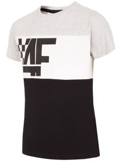 Chlapecké tričko (122-164) JTSM206 - šedý melír