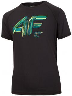 Chlapecké sportovní tričko (122-164) JTSM400 – černé