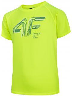 Chlapecké sportovní tričko (122-164) JTSM400 - šťavnaté neonově zelené