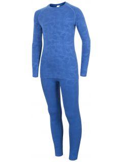 Bezešvé prádlo (horní+dolní) pro starší děti (holky) JBIDB400 – kobaltové