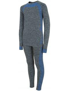 Bezešvé prádlo (horní+dolní část) pro starší děti (chlapce) JBIMB401 - tmavě šedý melír