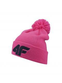 Čepice pro starší děti JCAD255 - neonově růžová