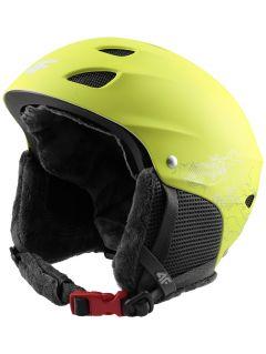 Lyžařská helma pro starší děti (kluky) JKSM400 - šťavnatá zelená