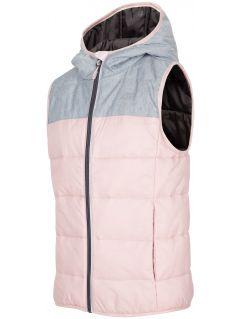 Péřová vesta pro starší děti (holky) JKUDB200 - šedý melír