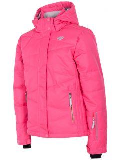 Lyžařská bunda pro starší děti (holky) JKUDN400 – fuchsiová