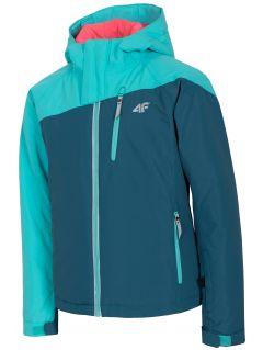 Lyžařská bunda pro starší děti (holky) JKUDN402 - mořská zelená