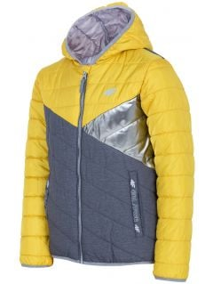 Péřová bunda pro starší děti (holky) JKUDP202 – žlutá