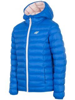 Péřová bunda pro starší děti (holky) JKUDP206A – kobaltová