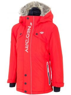 Městská bunda pro mladší děti (kluky) JKUM101 – červená