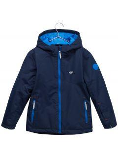 Lyžařská bunda pro mladší děti (kluky) JKUMN302 – tmavě modrá