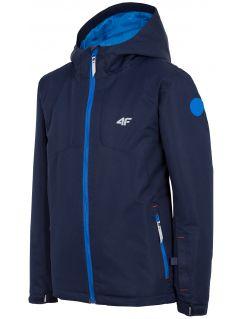Lyžařská bunda pro starší děti (kluky) JKUMN406 – tmavě modrá