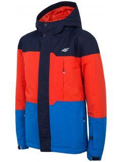 Lyžařská bunda pro starší děti (kluky) JKUMN408 – tmavě modrá