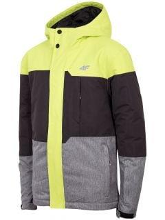 Lyžařská bunda pro starší děti (kluky) JKUMN408 - šťavnatá zelená