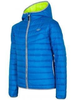 Péřová bunda pro starší děti (kluky) JKUMP201 – kobaltová