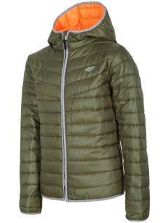 Péřová bunda pro starší děti (kluky) JKUMP201 – khaki
