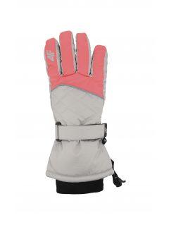 Lyžařské rukavice pro starší děti (holky) JRED403 - neonově korálové