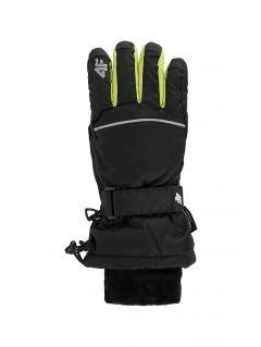 Lyžařské rukavice pro starší děti (kluky) JREM401 – černé