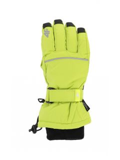 Lyžařské rukavice pro starší děti (kluky) JREM401 - šťavnatá zelená