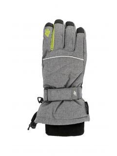 Lyžařské rukavice pro starší děti (kluky) JREM403 - šedý melír