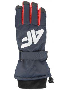 Lyžařské rukavice pro starší děti (kluky) JREM404 – tmavě modré