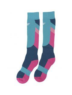 Lyžařské ponožky pro starší děti (holky) JSODN400 – multibarevné