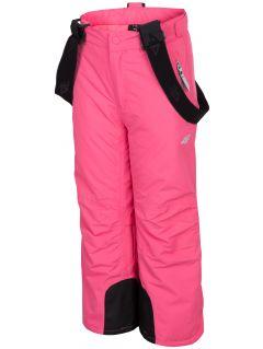 Lyžařské kalhoty pro mladší děti (holky) JSPDN301 – fuchsiové