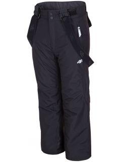 Lyžařské kalhoty pro starší děti (holky) JSPDN400 - hluboce černé