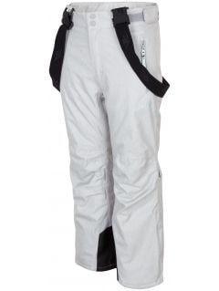 Lyžařské kalhoty pro starší děti (holky) JSPDN401A - šedý melír