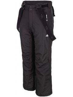Lyžařské kalhoty pro starší děti (kluky) JSPMN400 – černé