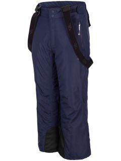 Lyžařské kalhoty pro starší děti (kluky) JSPMN400 – tmavě modré