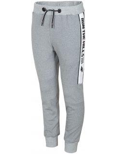 Sportovní kalhoty pro starší děti (kluky) JSPMTR405 - šedý melír