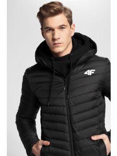 Pánská péřová bunda 4Hills KUMP100 - hluboce černá