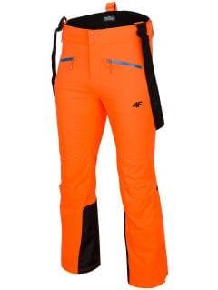 Pánské lyžařské kalhoty SPMN151 - neonově oranžové