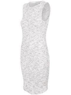 Dámské šaty SUDD445 - teplý světle šedý melír
