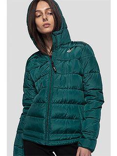 Dámská péřová bunda KUDP202 - tmavě zelená