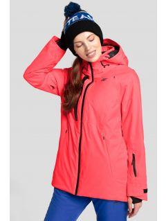 Dámská lyžařská bunda KUDN206 - neonově lososová