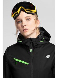 Dámská lyžařská bunda KUDN302 - hluboce černá