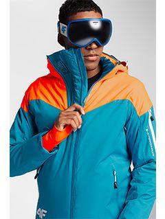 Pánská lyžařská bunda KUMN152 – tyrkysová