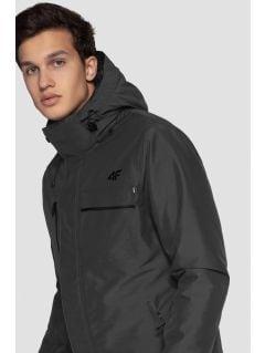 Pánská lyžařská bunda KUMN253 - šedý melír