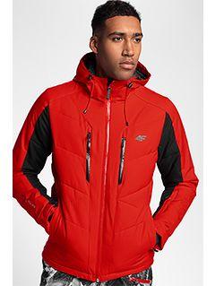 Pánská lyžařská bunda KUMN256 – červená