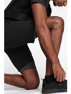 Pánské tréninkové šortky SKMF150 - hluboce černé