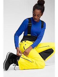 Dámské lyžařské kalhoty SPDN102A – žluté